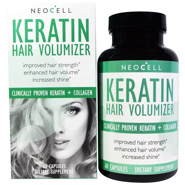 Neocell, Keratin Hair Volumizer, 60 Capsules