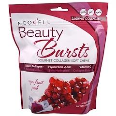 Neocell, Beauty Bursts, 미식 콜라겐 소프트 츄, 슈퍼 프룻 펀치, 60 소프트 츄
