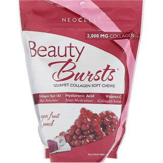 Neocell, Beauty Bursts, Gourmet Collagen weiche Kaubonbons, Super Frucht-Cocktail, 2.000 mg, 60 weiche Kaubonbons