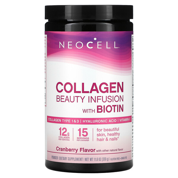 Collagen Beauty Infusion with Biotin Drink Mix, Cranberry, 11.6 oz (330 g)