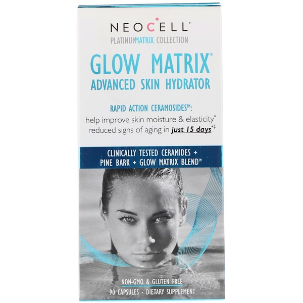 Neocell, Glow Matrix، مرطب فائق للجلد، 90 كبسولة