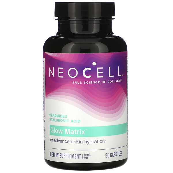 Neocell, Glow Matrix, Ceramides Hyaluronic Acid, 90 Capsules