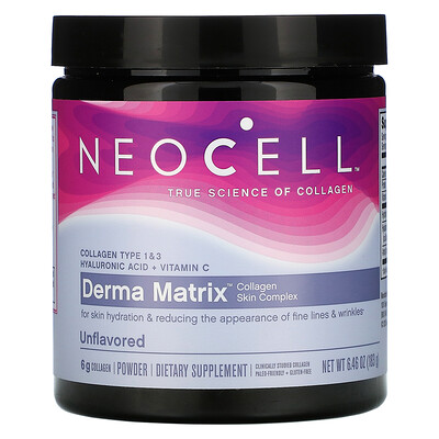 Купить Neocell Derma Matrix, Collagen Skin Complex, Unflavored, 6.46 oz (183 g)