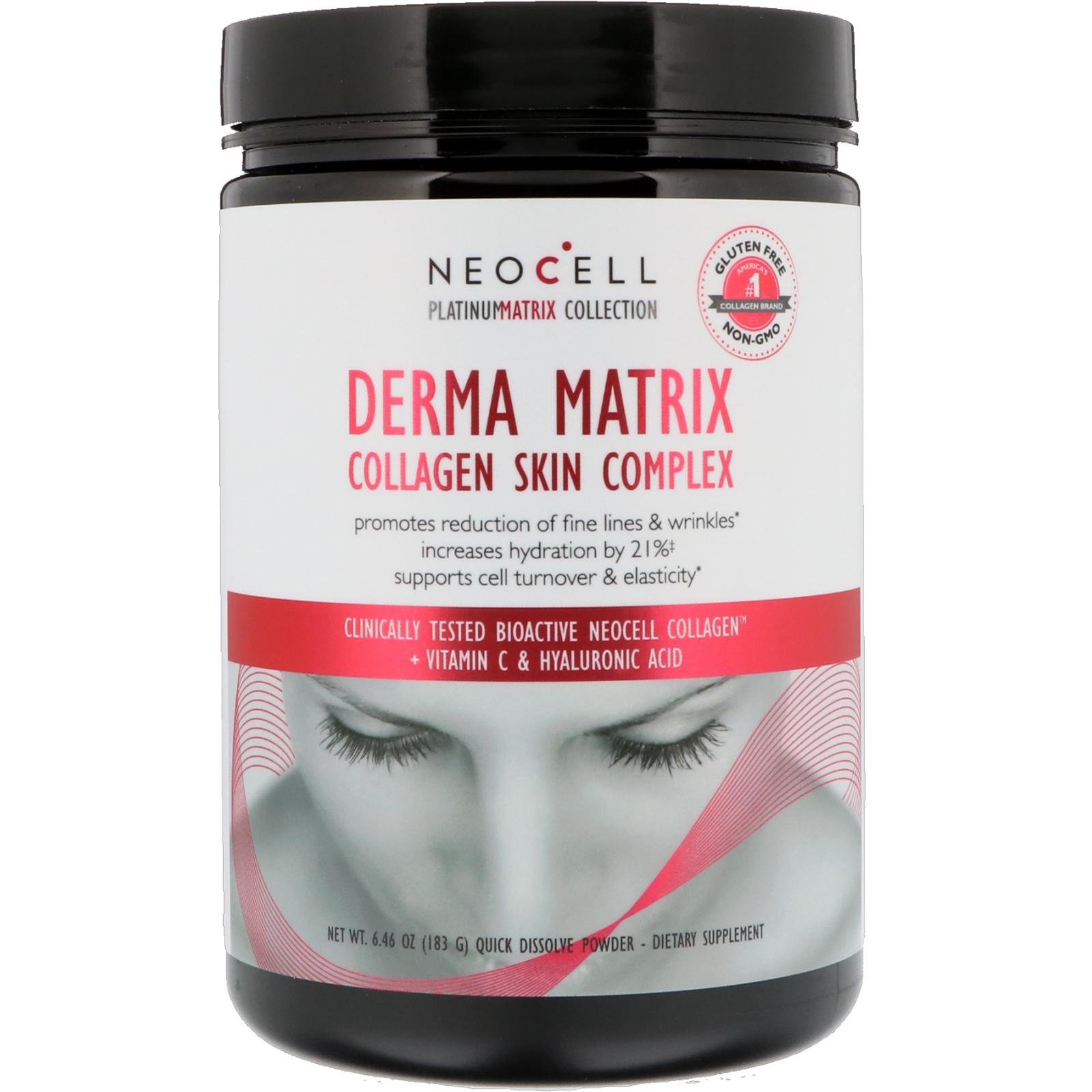 Neocell, Derma Matrix, Collagen Skin Complex, 6 46 oz (183 g