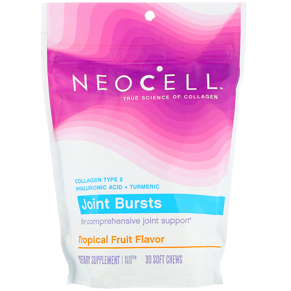 Neocell, Joint Bursts, Fruits exotiques, 30 gommes à mâcher