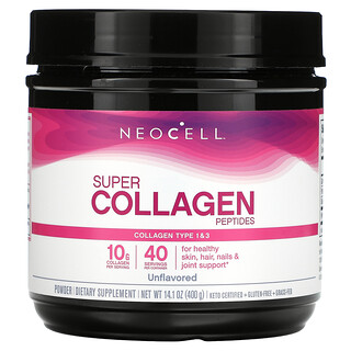 Neocell, Super Collagen Peptides, Unflavored, 14.1 oz (400 g)