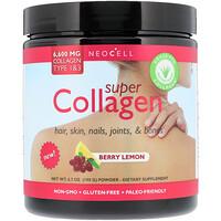 Super Collagen, Type 1 & 3,Berry Lemon, 6,000 mg, 7 oz (198 g) - фото