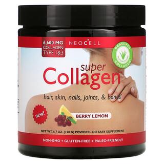 Neocell, Super Collagen Type 1 & 3, Berry Lemon, 6,600 mg, 6.7 oz (190 g)