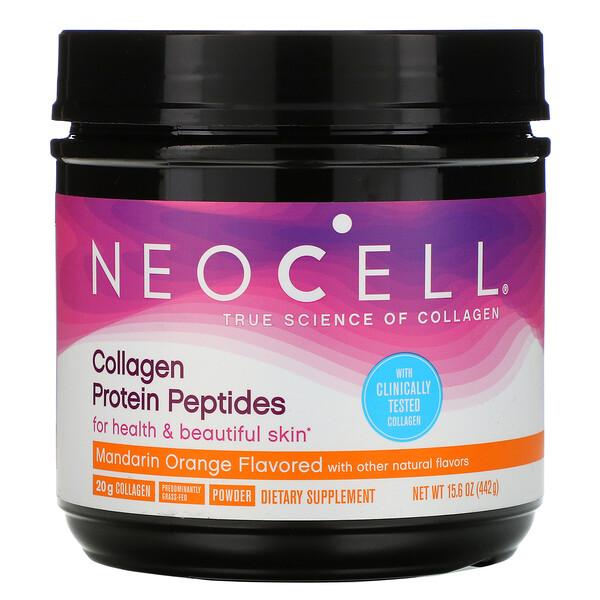 Neocell, Collagène Peptides de protéines, Mandarine et orange, 442 g (Discontinued Item)