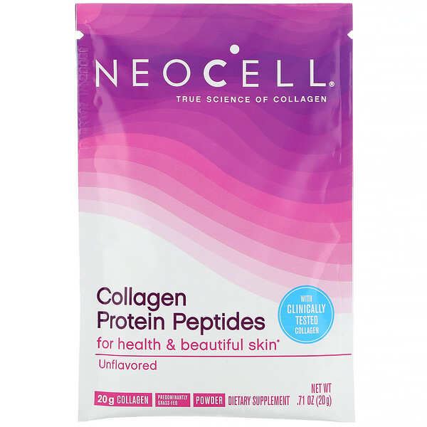 Collagen Protein Peptides, Unflavored, .71 oz (20 g)