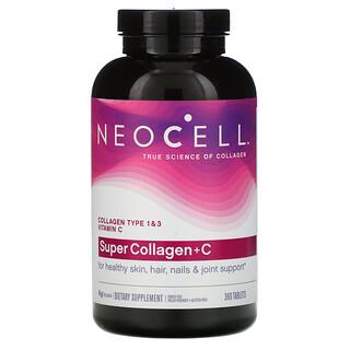 Neocell, SuperCollagen más vitaminaC, Colágeno de tipo 1y3, 360comprimidos