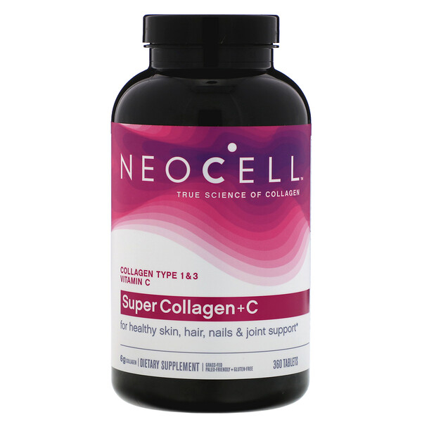 Super Collagen+C, Type 1 & 3, 360 Tablets