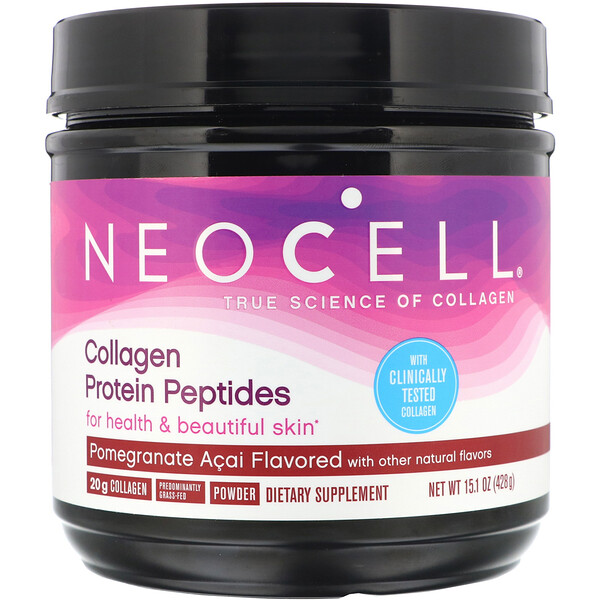 Collagen Protein Peptides, Pomagranate Acai, 15.1 oz (428 g)