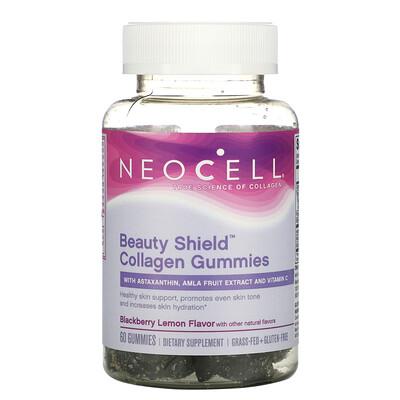 Купить Neocell Beauty Shield, Collagen Gummies, Blackberry Lemon, 60 Gummies