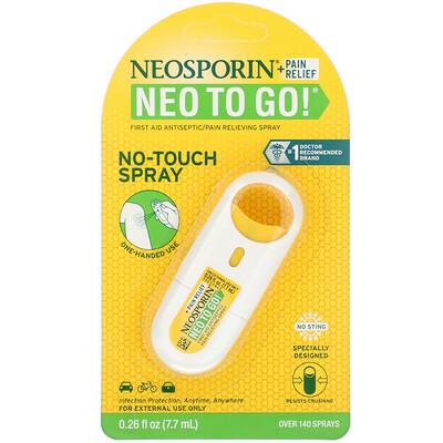 + Обезболивающее средство Neo To Go!, Антисептический обезболивающий спрей для оказания первой помощи, 7,7 мл