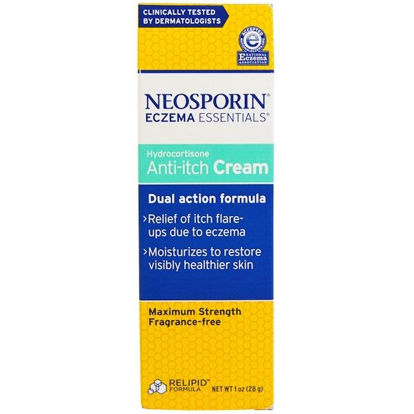Neosporin, Eczema Essentials, Hydrocortisone Anti-Itch Cream, 1 oz (28 g) (Discontinued Item)