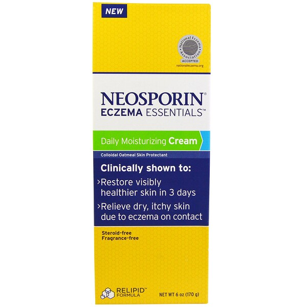 Neosporin, Eczema Essentials, Daily Moisturizing Cream, 6 oz (170 g)