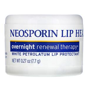 Неоспорин, Overnight Renewal Therapy, White Petrolatum Lip Protectant, 0.27 oz (7.7 g) отзывы
