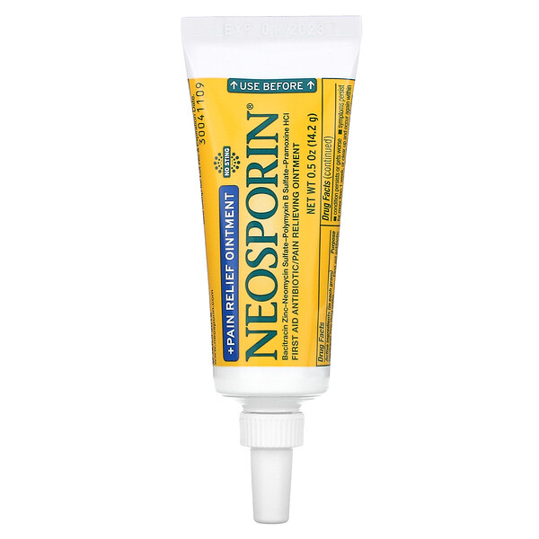 Neosporin, + Pain Relief Ointment, 0.5 oz (14.2 g)