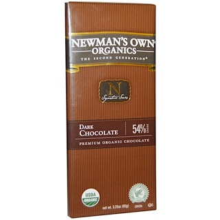 Newman's Own Organics, Dark Chocolate Bar, 3.25 oz (92 g)