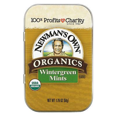 Newman's Own Organics Organics, Wintergreen Mints, 1.76 oz (50 g)