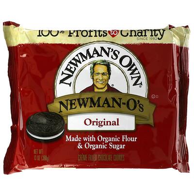 Newman's Own Organics Newman O's, Creme Filled Chocolate Cookies, Original, 13 oz (368 g)