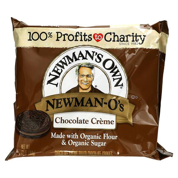 Newman's Own Organics, Newman-O's, Creme Filled Chocolate Cookies, Chocolate, 13 oz (368 g)