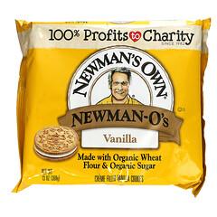 Newman's Own Organics, Newman-O's,奶油夾心香草餅乾,13 盎司(368 克)