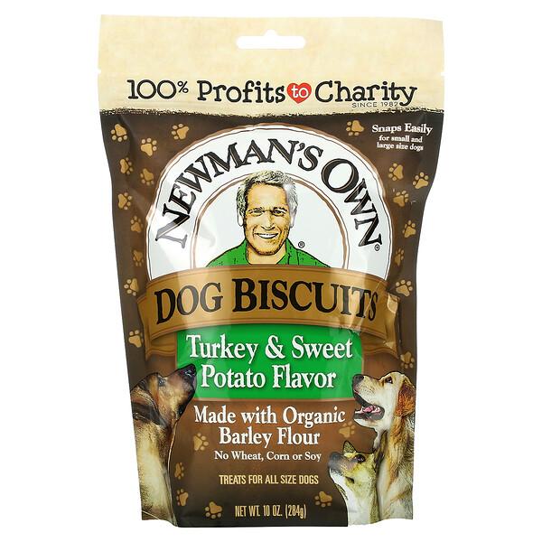 Newman's Own Organics, Dog Biscuits, Turkey and Sweet Potato, 10 oz (284 g)