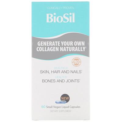 Купить BioSil by Natural Factors Улучшенный источник коллагена, 60 небольших вегетарианских капсул, заполненных жидкостью