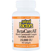 BetaCareAll plus Lutein & Lycopene, 25,000 IU, 90 Softgels - фото