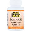 Natural Factors, BetaCareAll plus Lutein & Lycopene, 25,000 IU, 90 Softgels