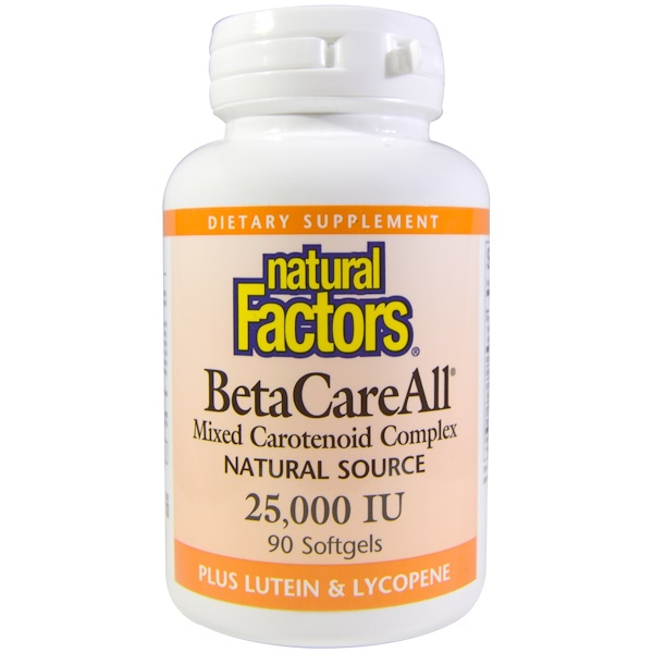 Natural Factors, BetaCareAll, 25,000 IU, 90 Softgels