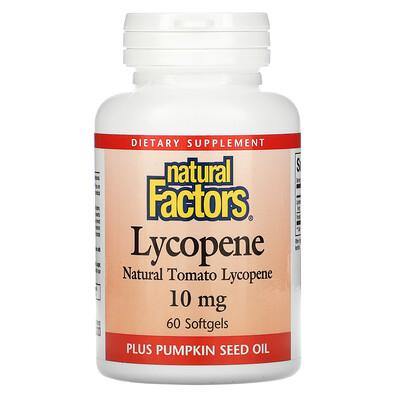 Natural Factors Ликопин, 10 мг, 60 мягких капсул