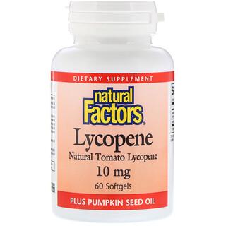 Natural Factors, Lycopène, 10mg, 60 Gélules souples