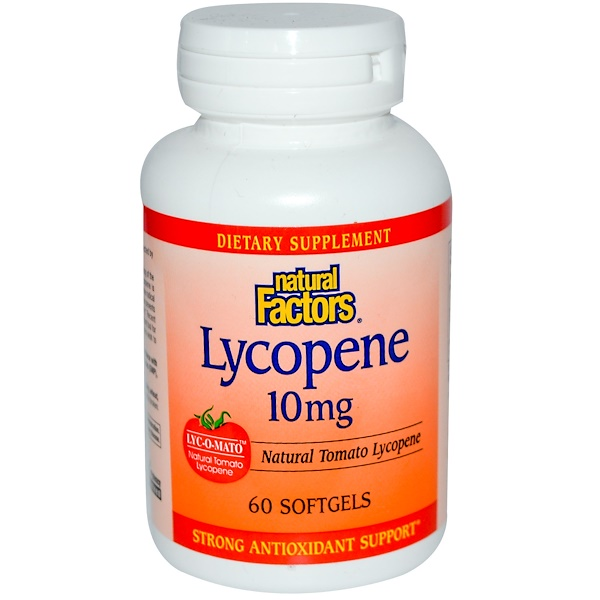 Natural Factors, Lycopene, 10 mg, 60 Softgels