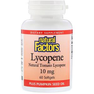 Натурал Факторс, Lycopene, 10 mg, 60 Softgels отзывы