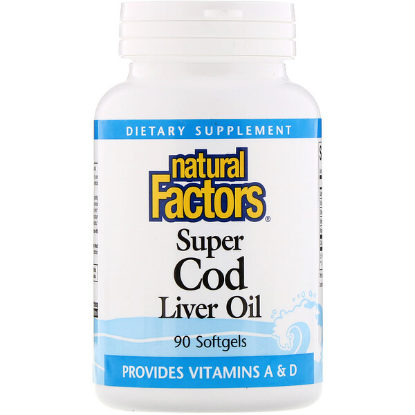 Natural Factors, Super Cod Liver Oil, 90 Softgels