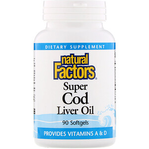 Натурал Факторс, Super Cod Liver Oil, 90 Softgels отзывы покупателей