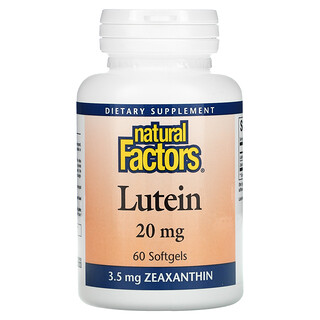 Natural Factors, Lutein, 20 mg, 60 Softgels