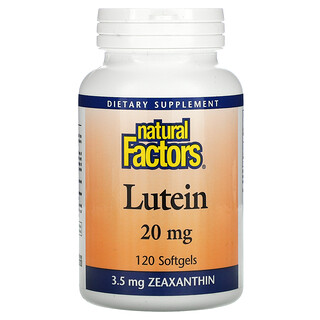 Natural Factors, Xantofila, 20 mg, 120 Cápsulas Softgel