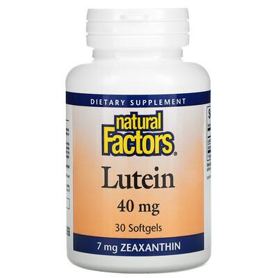 Купить Natural Factors Lutein, 40 mg, 30 Softgels