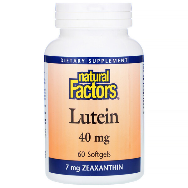 Natural Factors, Lutein (Luteína), 40 mg, 60Cápsulas de Gel Suave