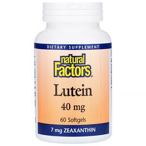 Натурал Факторс, Lutein, 40 mg, 60 Softgels отзывы
