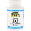 Natural Factors, Vitamin D3, 1000 IU, 90 Tablets