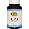 Natural Factors, Vitamin D3, 2000 IU, 90 Tablets