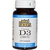 Natural Factors, 維他命 D3,2000國際單位,120粒軟膠囊