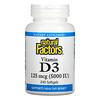Natural Factors, Vitamin D3, 125 mcg (5,000 IU), 240 Softgels