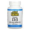Natural Factors, Vitamin D3, 125 mcg (5,000 IU), 360 Softgels