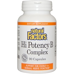 Natural Factors, Hi Potency B複合体, 90カプセル